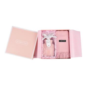 Lomouno围巾热水袋套装礼盒粉色 生日礼物实用送闺蜜同学 圣诞节礼物送女友