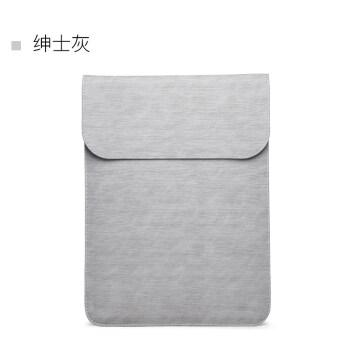 ASUS华硕灵耀u4000笔记本s4100电脑包rx310保护套14内胆包13.3寸 (二代)细腻微绒(竖款)-绅士灰 15.6英寸