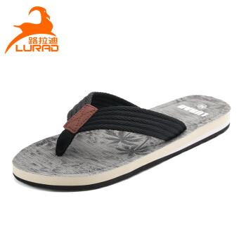 路拉迪人字拖男士拖鞋夏季防滑沙滩凉拖鞋夹脚沙滩鞋 灰色 M(适合41-42码)