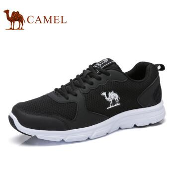 骆驼(CAMEL)2017新款男鞋 轻盈透气情侣款低帮运动休闲鞋 A712357070-600 黑色 男款 42