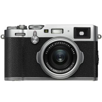 富士(FUJIFILM)X100F 数码相机 旁轴 2430万像素 WIFI 混合取景器 复古 人文扫街 银色