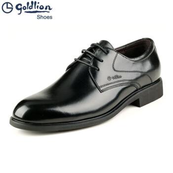 金利来男鞋 专柜正品 2017新款 商务正装系带头层牛皮鞋133410261AAB DAB 黑色133410261AAB 41
