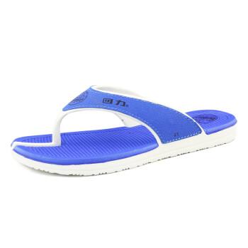 回力2016新款休闲男士人字拖夏季耐磨凉拖鞋夹脚防滑沙滩鞋潮流 蓝色 40