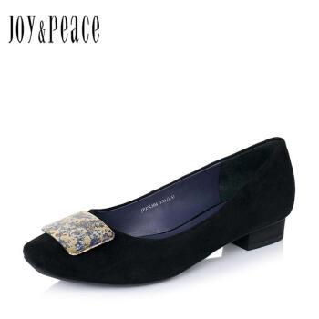 Joy&Peace/真美诗秋季专柜同款羊皮女单鞋ZK306CQ6 黑色 37