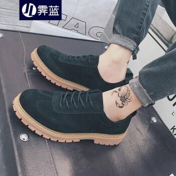 霁蓝 男靴 夏季新款复古潮流马丁靴休闲时尚港风低帮鞋男士短靴子WJ31 黑色 41