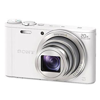 索尼(SONY)数码相机 卡片机 家用相机 DSC-WX350白色 实惠套装三