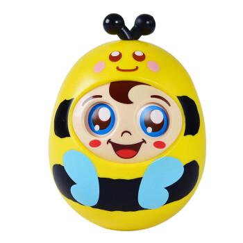 豪元 眨眼响铃点头不倒翁娃娃 卡通益智玩具儿童早教不倒翁摆件-勤劳小蜂
