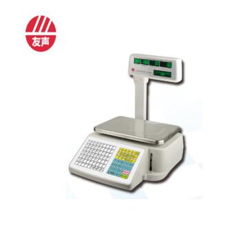 条码秤 精函友声电子计价打印小票秤收银秤30Kg15kg超市电子秤可连接收款机 五窗立杆15kg/5g