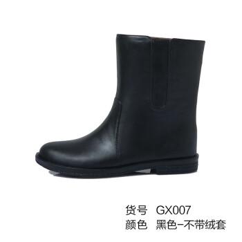 回力短筒秋冬季雨鞋 女士胶鞋雨靴 加绒保暖水靴防水鞋 时尚套鞋 黑色-单层 38