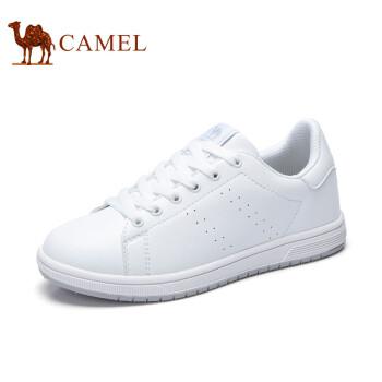 骆驼(CAMEL)2017春季新款女鞋 百搭情侣款时尚舒适轻盈小白鞋 A71363611 白色 女款 37