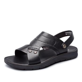 意尔康男鞋男士沙滩鞋7342ZS97850W 黑色42