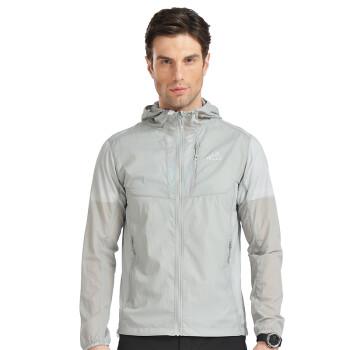 伯希和(PELLIOT)户外遮阳轻薄透气皮肤风衣 男女速干衣1221 男纯浅灰色 XL