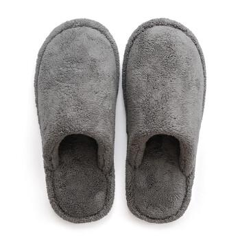 朴西(POSEHOME)包头保暖拖鞋 情侣居家棉拖鞋男 0409灰色41-42