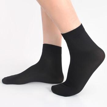 恒源祥袜子男士夏季丝袜透气短袜 薄款冰丝中筒男袜10双装C150218