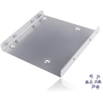 金胜(Kingshare) 2.5英寸转3.5英寸固态硬盘架 银色 (金属材质/配送螺丝/A325MSR1S)