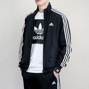 adidas阿迪達斯男裝夾克外套2018春季新款針織立領休閑運動服ce8581圖片