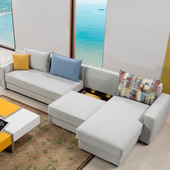 慕尼思丹 沙發 布藝沙發 客廳沙發 小戶型沙發床 雙位 貴妃(帶床 儲物