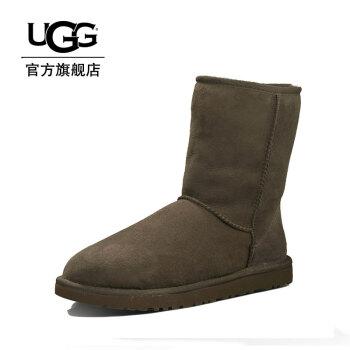 UGG 新款女士雪地靴平底纯色休闲经典中筒靴 5825 CHO 39码/24.1cm