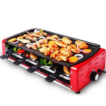 克来比电烧烤炉 家用无烟电烤炉韩式电烤盘 双层大号配8小碟适合6-10人 KLB9003