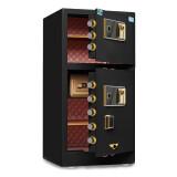 虎牌保险柜家用办公大型双门指纹密码双开启保管箱/柜1米睿智黑