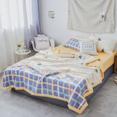 唯萨家纺 全棉空调被夏被 被子 夏凉被 纯棉空调被 柔软舒适 菠萝蜜语 150*200cm