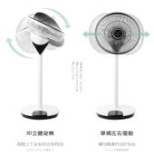 日本西哲(Sezze)稻田空气循环扇家用电风扇直流变频落地扇静音涡轮对流360度摇头旋转立体广角送风 Y-228W白色 循环扇