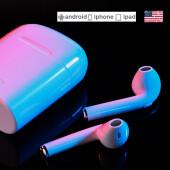 航熊 苹果蓝牙耳机无线iPhone7-8p迷你超小双耳6入耳式6s耳塞式X7plus隐形通用运动耳机 标准版-白色
