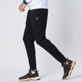 361度男装运动裤男针织小脚裤收口室内训练舒适束脚休闲裤子 N 基础黑 XL