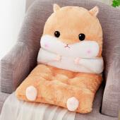 仓鼠椅子坐垫靠垫一体 毛绒坐垫办公椅子