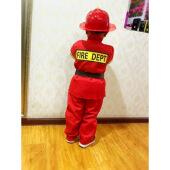 消防员衣服儿童幼儿园消防应急模拟演练学生安全演练表演服装 衣服+裤子+腰带(包含玩具套装) 120cm
