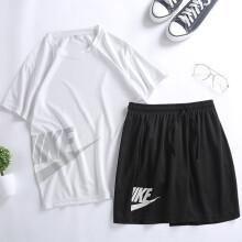 【冲量爆款】2020夏季 男女弹力速干T恤短袖运动套装 2件套