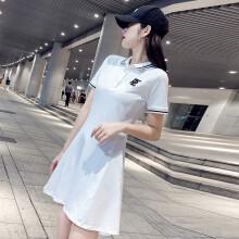 【京东旗舰店】忆陌花 夏季新款修身刺绣连衣裙 白色/黑色