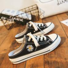 【权志龙同款】HQ Pattein 2020新款韩版小雏菊半拖帆布鞋女 多款式