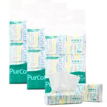 PurCotton 全棉时代 居家棉柔巾抽纸巾20x20cm 100抽/包 6包/提*3  207元
