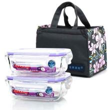 单买好价!克芮思托 玻璃保鲜盒 1+1时尚耐热 保温包套装¥29.90