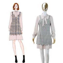 衬衣裙两件套