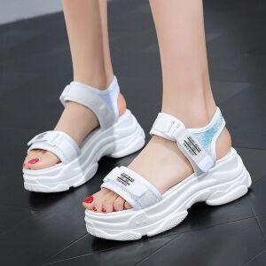 厚底凉鞋休闲百搭增高鞋子