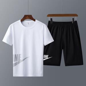 【京东配送】夏季 速干运动套装 两件套 T恤裤子 男女同款