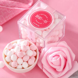 【送礼盒】 网红接吻糖口气清新体香糖果 玫瑰荔枝+茉莉青提*1盒