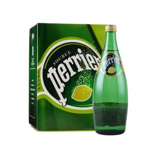 限华东!Perrier 巴黎水 750ml*4瓶 含气柠檬味饮料