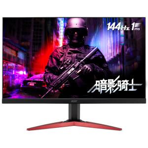 3月1日! acer 宏碁 暗影骑士 KG251Q F 24.5英寸 TN电竞显示器(144Hz、1ms、FreeSync)    1399元包邮