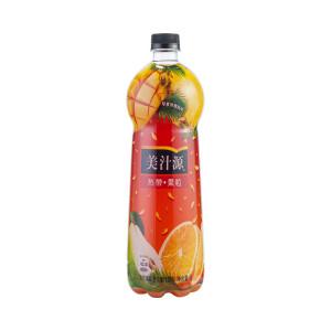 可口可乐 美汁源 果粒橙 热带果粒 1L单瓶