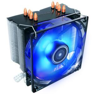 安钛克(Antec)铜虎C400 CPU散热器 (支持锐龙AMD AM4平台/LED蓝光/PWM温控/纯铜底座/纯铜4热管)