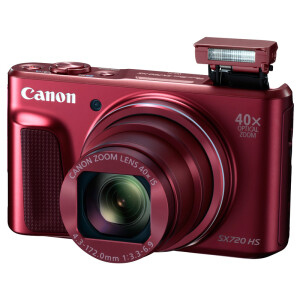 佳能(Canon)PowerShot SX720 HS 数码相机(2030万像素 40倍光变 24mm超广角)红色1849元