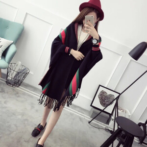 米兰茵/MILANYIN 女装毛衣蝙蝠衫披肩外套 JD414