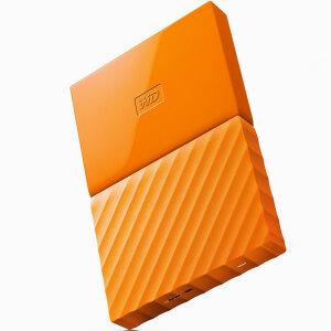 西部数据(WD)My Passport 2TB 2.5英寸 活力橙 移动硬盘 WDBYFT0020BOR-CESN