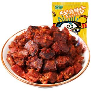 内蒙古蒙都 牛肉干 休闲零食 清真牛肉粒烧烤味160g
