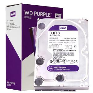 西部数据(WD)紫盘 3TB SATA6Gb/s529元
