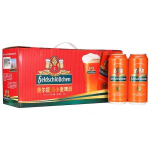 feldschloesschen福德堡 小麦 白啤酒 500ml*12听
