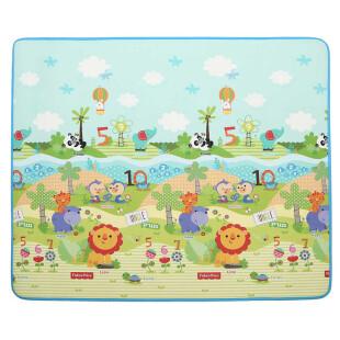 费雪FisherPrice婴儿韩国进口加厚双面宝宝爬行垫 游戏垫BMF22 (180*200*1cm)